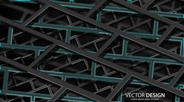 abstrato 3d preto e verde escuro arquitetura fundo geométrico