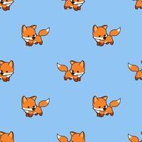 padrão sem emenda de bebê fofo raposa dos desenhos animados