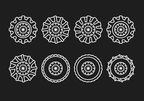 Linha de pneu do trator vetor