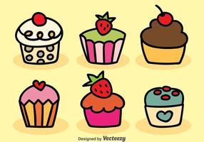 Desenhos animados Cupcake Vector
