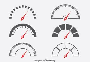 Conjunto de vetores do símbolo Tacômetro