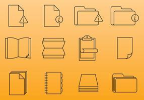 Ícones do documento de papel