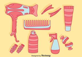 Coleção de acessórios para cabelo Vector