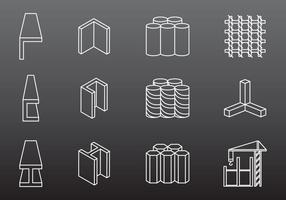 Ícones de Construção de Aço vetor