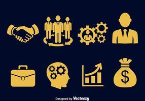 Ícone dos ícones empresariais vetor