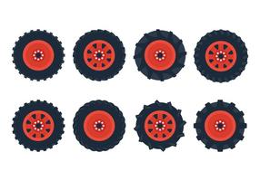 Vetor do pneu do trator