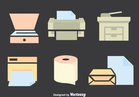 Conjunto de vetores da ferramenta de fotocopiadora