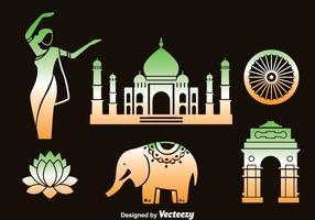 Conjunto de vetores do elemento da Índia