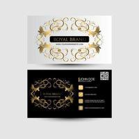 cartão de visita com cor preta e dourada