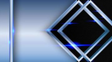 sobreposição abstrato diamante metálico vetor