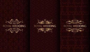 conjunto de fundos texturizados de luxo vermelho e dourado