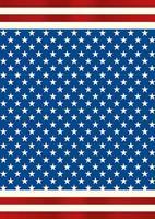 cartaz de retrato de bandeira americana com estrelas vetor