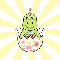 unicórnio fofo dinossauro em cor pastel de ovo.