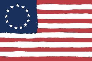 bandeira de betsy ross pintada vetor