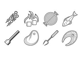Vetor de ícone de churrasco grátis