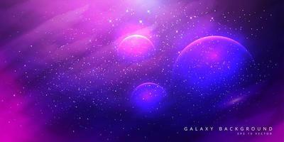 fundo colorido galáxia espaço com estrelas brilhando vetor