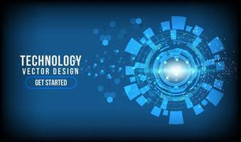 círculo de tecnologia abstrato brilhante com espaço de cópia vetor