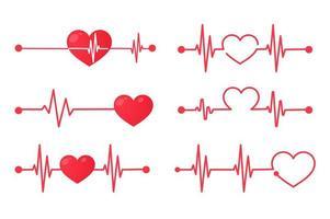 gráfico de frequência cardíaca vetor