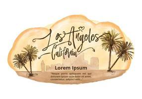 Vetor de aquarela de Los Angeles grátis