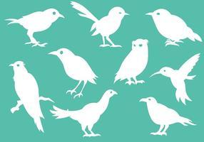 Vetor de ícones de silhueta de pássaro grátis