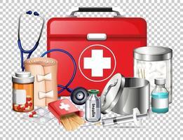 projeto de equipamentos médicos e medicamentos vetor