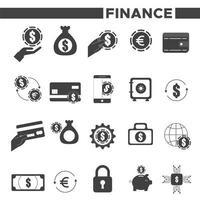 ícones de finanças de economia de pacote vetor