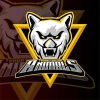 logotipo de esports de tigre de jogos de animais