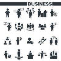conjunto de ícones de organização de escritório e gestão de negócios vetor