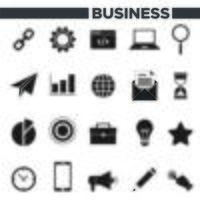 Conjunto de 20 ícones de negócios vetor