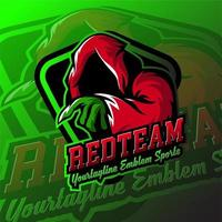 emblema do logotipo do jogo fantasma esport vetor