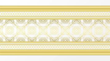 borda decoartive ornamental dourada vetor