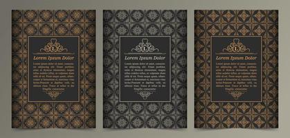cartão vintage ornamento vetor