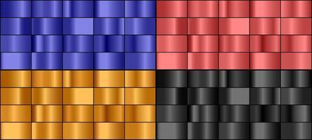 conjunto de gradiente de metal colorido