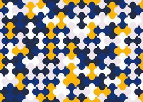 padrão de peças de quebra-cabeça colorido vetor