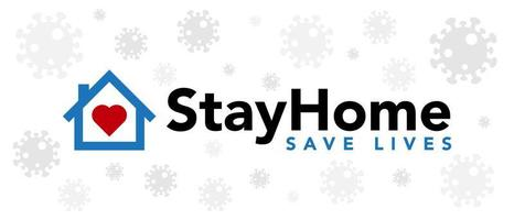 ficar em casa salvar vidas coronavírus banner