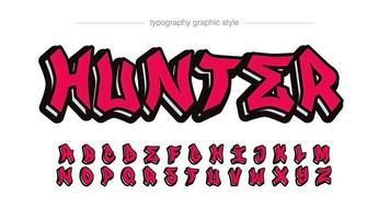 efeito de texto de etiqueta moderna grafite vermelho vetor