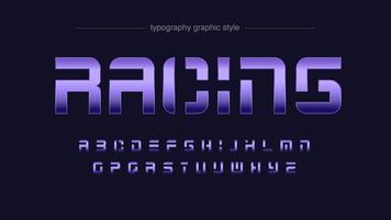 futurista forma abstrata roxa typograhy vetor