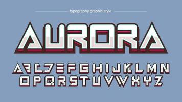 tipografia metálica futurista para logotipo de esportes modernos vetor