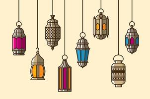 Vetor lanterna maroc
