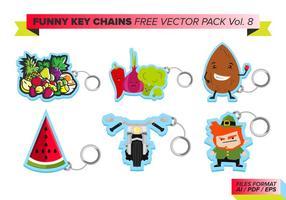 Chaveiros engraçadas free vector pack vol. 8