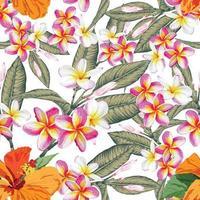 teste padrão de flor em aquarela vetor
