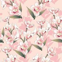 flores da orquídea rosa vetor