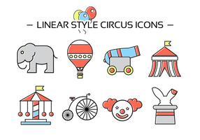 Ícones de circo gratuitos vetor