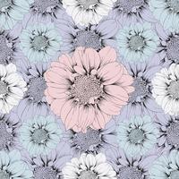 flores de zínia pastel vetor