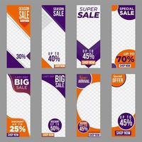 banners promocionais de venda vetor