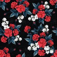 padrão de rosa vermelha vetor