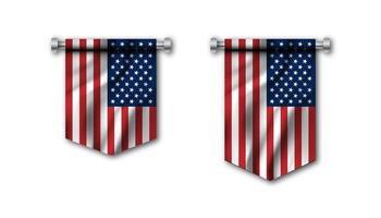bandeira dos estados unidos da américa vetor