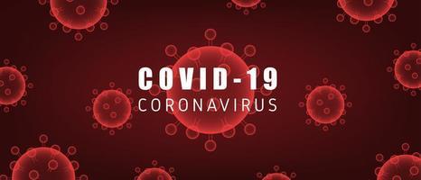 células covid-19 de coronavírus vermelho em gradiente
