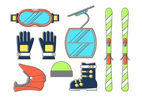 Elementos desportivos de inverno vetor