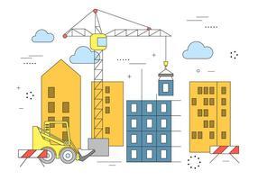 Construção de edifícios de vetores